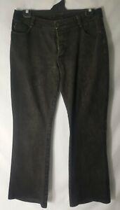 Men's Size 34 - MORRISSEY EDMISTON - Dark Grey Denim Jeans Button Up Button Fly