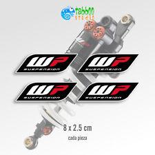 4 pegatinas WP White Power sponsor sticker vinilo adhesivo coche moto racing