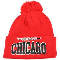 Chicago City Chi Town Cuffed Red Beanie Pom Pom Knit One Size Winter Warm Hat
