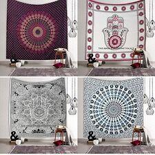 Hamsa Fatima Mandala Tapestry Indian Bedspread Queen Wall Hanging Decor 5 PC LOT