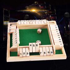 Jeu de Dés Nombre Shut the Box Jeux de Société Pub Club 4 Personne Joueur Gamers