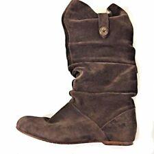 UGG AUSTRALIA WOMEN'S HIGHKOO II BROWN TALL SUEDE SLOUCH BOOTS 1948 Size 7.5