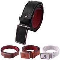 Men's Casual Waistband Leather Automatic Buckle Belt Waist Strap Belts Fashion