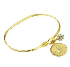 John Wind Bracelet Bangle Gold Mini Coin Initial Charm Maximal Art Jewelry
