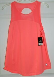 WOMEN'S SZ LARGE MELON FLARE COLOR TANK by FILA-NEW WITH TAGS
