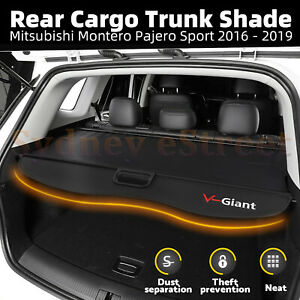 Car Trunk Shade Rear Cargo Security Cover For Mitsubishi Pajero Sport 2016-2020