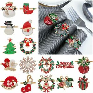 Elk Christmas Tree Napkin Ring Christmas Supplies Table Decoration Mouth Ring