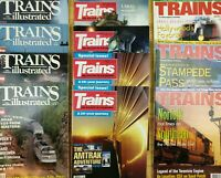 (Lot of 11) Various 90's Train and Trains Illustrated Magazines