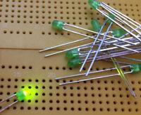 3mm Emerald Green LED Indicator Avago HLMP-K600 560nm 11mcd 60° Multi Qty