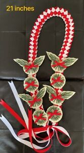 Graduation gift, Ribbon money Leis with 12 dollar bills - choice of color