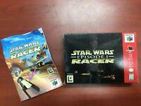Star Wars: Episode I Racer - Nintendo 64 N64 Box and Manual *NO GAME*