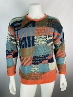 Vintage Large 52 Mens Coogi Style Sweater Bill Cosby Pft Guy Abstract Crewneck