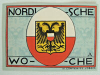 German Emergency Money Lübeck 50 Pfg, 1921 Nordic Week Polska Poland Crest (4321