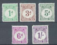 Gilbert and Ellice 1940 postage dues sg. D1, D3, D5-D7 MH