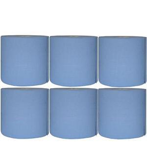 Werkstattpapier 6x blau 2lagig 22x38cm 500 Abrisse Putzpapier