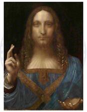 Jesus Christ Art Print/Poster/Leonardo Da Vinci - Painting Reproduction 17x22
