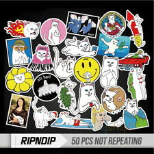 50x Middle Finger Ripndip Sticker for Snowboard  Skateboard Luggage Car Laptop