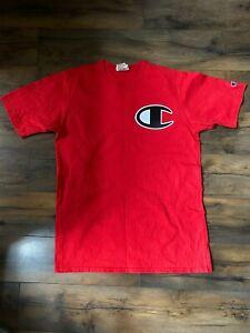 Champion Red Reverse Weave Tshirt Size Medium Mens