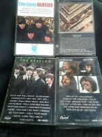 Lot Of 4 Beatles Cassettes Let It Be, The Early Beatles, 1967-1970, RnR Vol 1