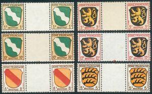 Alliierte Besetzung/German Post Franz. Zone aus Mi.-Nr.1-10** mit Zwischenfeld