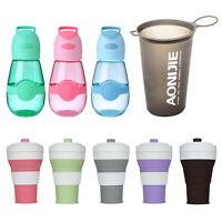 450mL Outdoor Sports Travel Retractable Collapsible Silicone Water Cup