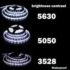 32.8FT 600 LED Strip Light 3528/5050/5630 SMD Ribbon Tape Roll Waterproof DC 12V