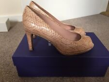 Stuart Weitzman desnuda punta abierta zapatos talla 4