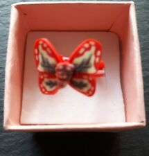 Brand new childs red butterfly ring size H! Childrens kids costume jewellery!