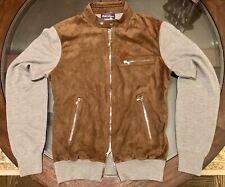 Ralph Lauren Purple Label Sz Medium Racer Cashmere & Leather Jacket Made n Italy