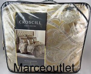 Croscill Home Alexander 4 Piece QUEEN Comforter Set Tan