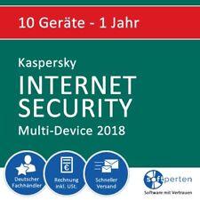 Kaspersky Internet Security 2018 - Multi-Device, 10 Geräte - 1 Jahr, Download