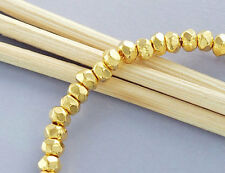 Karen hill tribe Gold  Vermeil Style  20 Facet Rondelle Beads 3.7x2.5 mm.