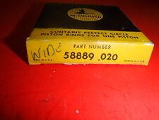 vintage chainsaw mcculloch nos piston ring set 58889 std wide 1-76 1-86 450 550