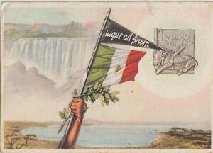 1937 ITALY EAST AFRICA   FASCIST PROPAGANDA  FASCIST AMARA FEDERATION FLAG