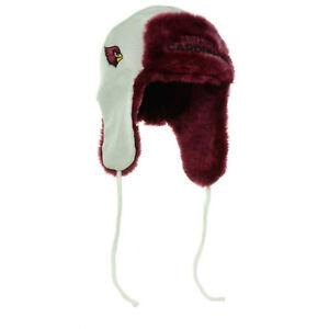 Arizona Cardinals Helmet Head Trapskin Ear Flap Sherpa Fur Beanie Knit Cap Hat