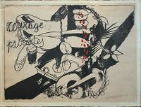 Alberto Giaquinto litografia Courage Patriotes 76x56 firmata numerata