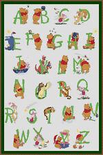 Disney Winnie the Pooh Alphabet Cross Stitch Chart