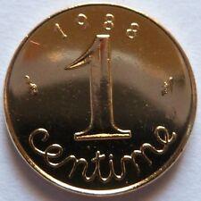 1 Centime Epi 1988 plaqué Or. Pour faire un cadeau. Souvenir du Franc de 30 ans