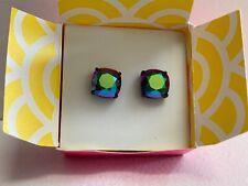 Origami Owl Black Clara Stud Earrings w/ Scarabaeus Swarovski Crystals - NWT