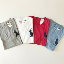 NWT Men's Polo Ralph Lauren Mens Crew Neck Big Pony T-Shirt M L White Grey Red