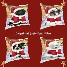 Christmas Gingerbread Candyfest Dog Cat Pet Photo Throw Decorative Pillow