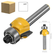 "1/4"" Shank Round Over Alloy Router Bit 1/8'' Radius 3/4'' Diameter 2'' Length"