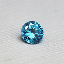 Sea Blue Sapphire 9MM 4.65Ct Round Faceted CUT AAAAA VVS LOOSE GEMSTONE