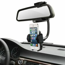 Universal 360°Car Rearview Mirror Mount Holder Stand Cradle For Cell Phone GPS