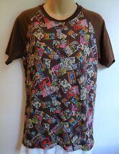 Play Comme des Garcons Shirt Top Brown Comic Short Sleeve Vintage Rare