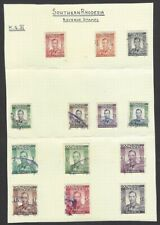 Southern Rhodesia 1937 KGVI King George VI revenues to £10 used