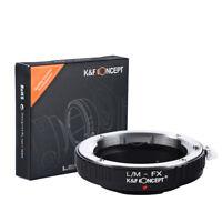 K&F Concept L/M-FX Lens Adapter Ring for Leica LM Lens to Fujifilm X FX  Cameras
