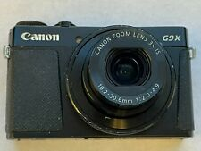 Canon PowerShot G9 X 20.1MP Digital Camera Black - NOT WORKING & FOR PARTS ONLY