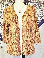 FIRST ISSUE/Liz Claiborne Co, Womans SNAKESKIN Print Cardigan LIGHTWEIGHT XL 0x