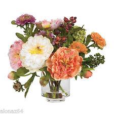 PEONY SILK FLOWER ARRANGEMENT NEARLY NATURAL